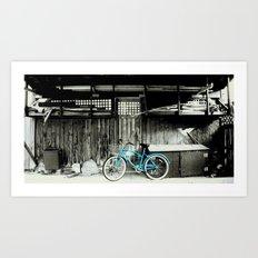 blue bike series 3.1 Art Print
