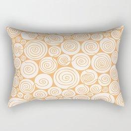 Waiting For Spring Orange Pattern Rectangular Pillow