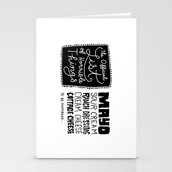 Horrible Things Stationery Cards