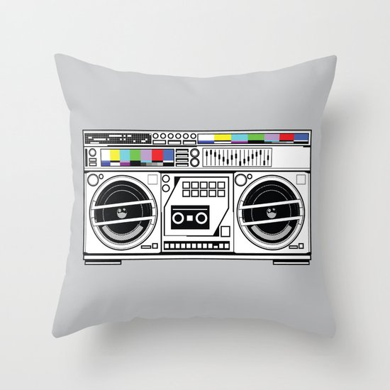 1 kHz #5 Throw Pillow