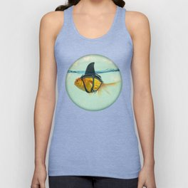 Brilliant DISGUISE - Goldfish with a Shark Fin Unisex Tanktop