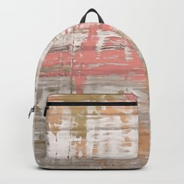 Living Coral, Camel And Gray Texture Backpack