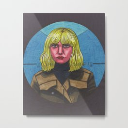 Blue Monday Blonde Metal Print