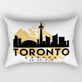 TORONTO CANADA SILHOUETTE SKYLINE MAP ART Rectangular Pillow