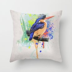 Nature does not hurry Throw Pillow