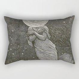 AROUND THE MOON - EMILE-ANTOINE BAYARD Rectangular Pillow