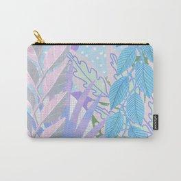 Modern Jungle Plants - Blue, Purple Carry-All Pouch
