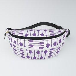 Purple Spoons Pattern Fanny Pack