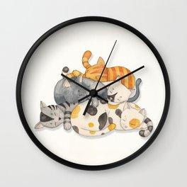 Cat Nap (Siesta Time) Wall Clock