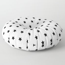 Black and white Star Pattern Floor Pillow
