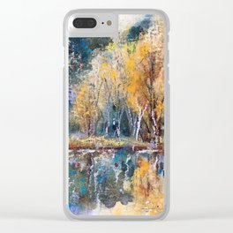 The Pond's Reflections Clear iPhone Case