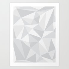 White Deconstruction Art Print