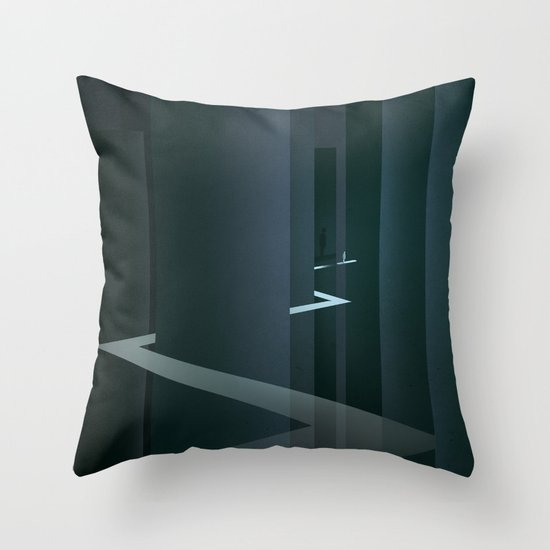 Smooth Minimal - Silver Surfer Throw Pillow