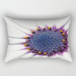 Beautiful White African Daisy Close-Up Macro  Rectangular Pillow