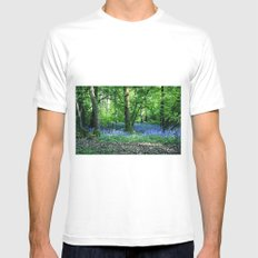 The Bluebell Dell SMALL White Mens Fitted Tee