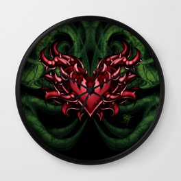 Red Heart of Valor Wall Clock