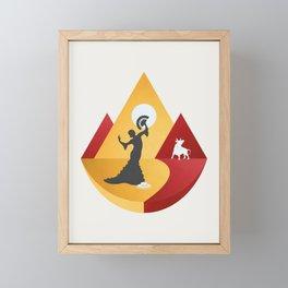 España Framed Mini Art Print