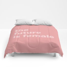 the future is female Comforters