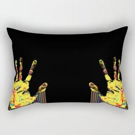 Barcode hand Rectangular Pillow