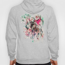 Watercolor Elephant and Flowers Hoody
