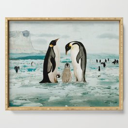 Emperor Penguin Family Serving Tray