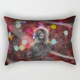 color snow Rectangular Pillow