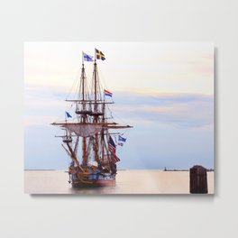 Kalmar Nykel Tall Sails Ship Photograph Print Metal Print