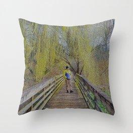 Willow Walkway Throw Pillow