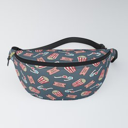 Movie Pattern in Dark Blue Fanny Pack