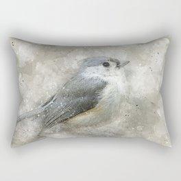 Tufted Titmouse Bird Rectangular Pillow