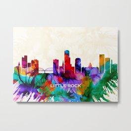 Little Rock Skyline Metal Print