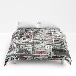 Runner Request (P/D3 Glitch Collage Studies) Comforters