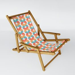Colorful abstract round geometric rows Sling Chair