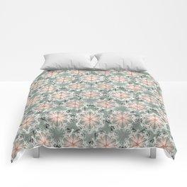 Retro Flowers Comforters