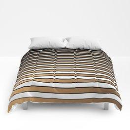 Golden Stripes Comforters