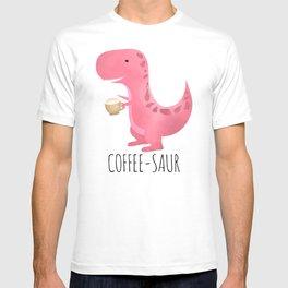 Coffee-saur | Pink T-shirt