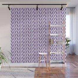 Purple XOXO Wall Mural