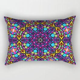 Arabesque kaleidoscopic Mosaic G519 Rectangular Pillow