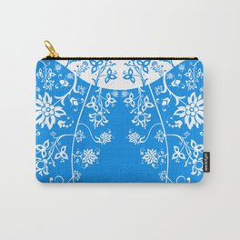 floral ornaments pattern wb Carry-All Pouch