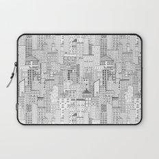City Doodle (white) Laptop Sleeve