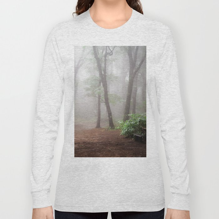 Misty Woods #adventure #photography Long Sleeve T-shirt