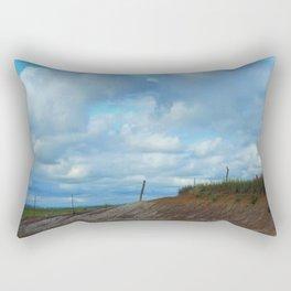 Kansas Country Landscape with blue sky. Rectangular Pillow