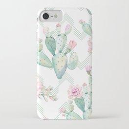 Cactus Chevron Southwestern Watercolor iPhone Case