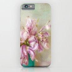 bouquet tulips in blue vase Slim Case iPhone 6s