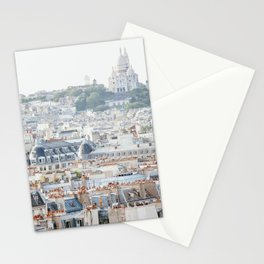 Montmartre Vista - Paris Travel Photography Stationery Cards