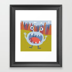 Suprise Monster Framed Art Print