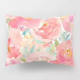 Preppy Pink Peonies Pillow Sham
