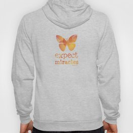 EXPECT MIRACLES - orange butterfly Hoody