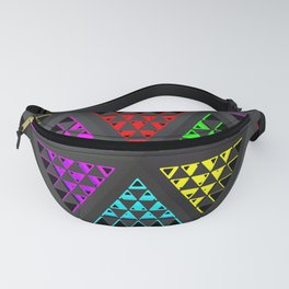 Abstract ornament with geometric prisms Fanny Pack