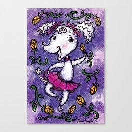 Perky Poodle Canvas Print